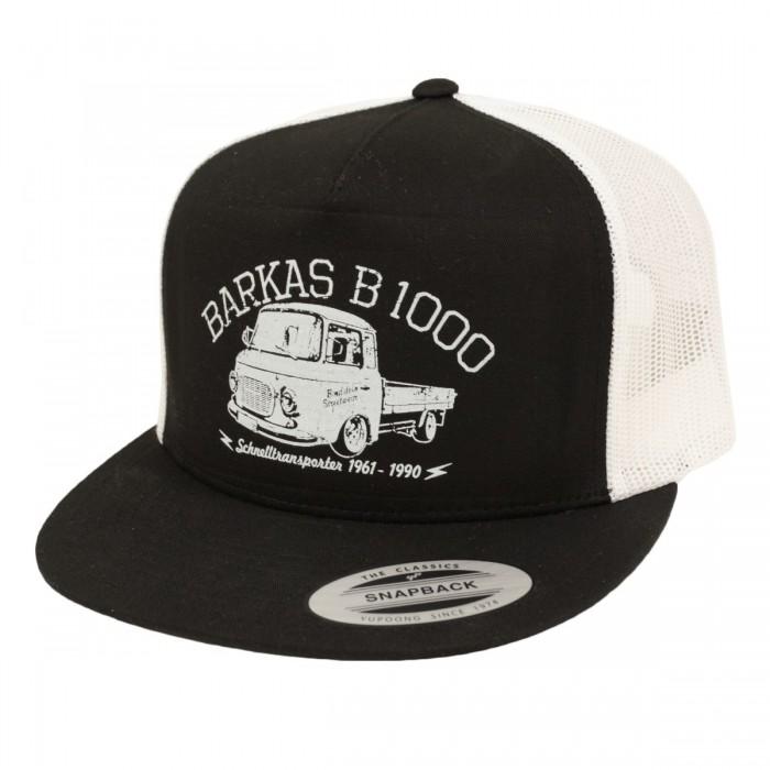 Bordstein Trucker Cap Snapback B1000 Pritsche Schwarz Weiss