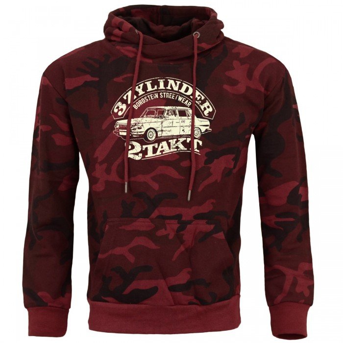 WB353 Vintage Hoody camouflage red