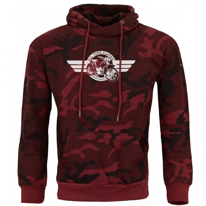 SR2 All Time Classics Kapuzepullover Rot Camouflage