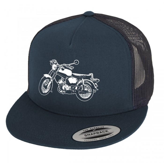 Mesh Cap in dunkelblau mit Suhler Simme S50 / S51