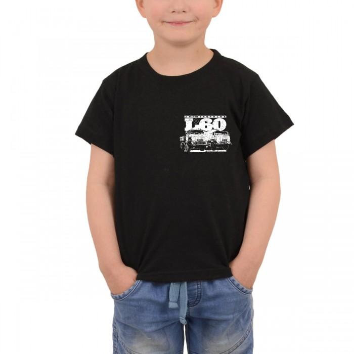 L60 Kindershirt mit Brust und Rückendruck