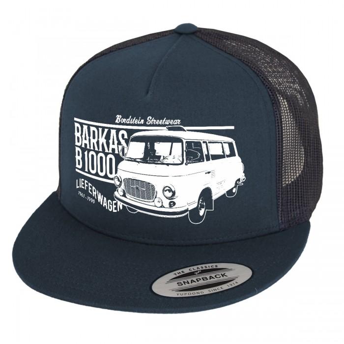 Blaues Basecap mit Barkas B1000 Motiv