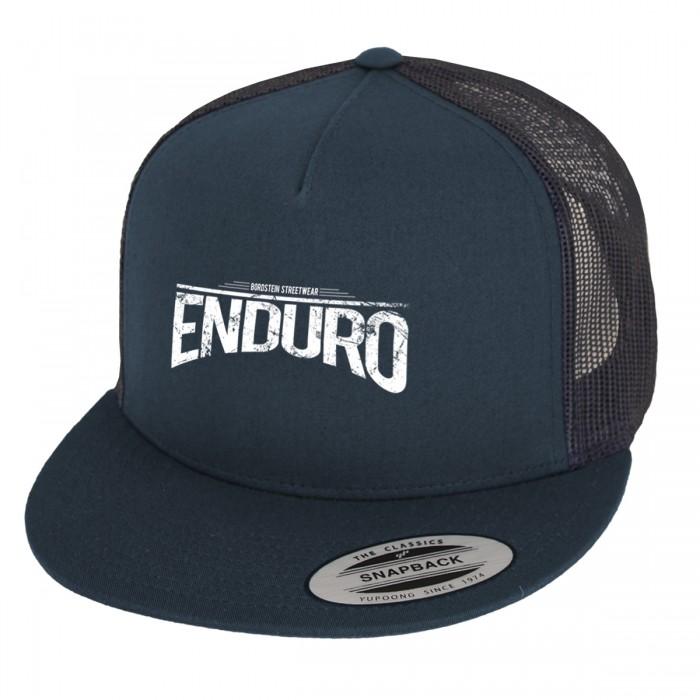 Enduro Schriftzug auf klassischem Yupoong Trucker Cap