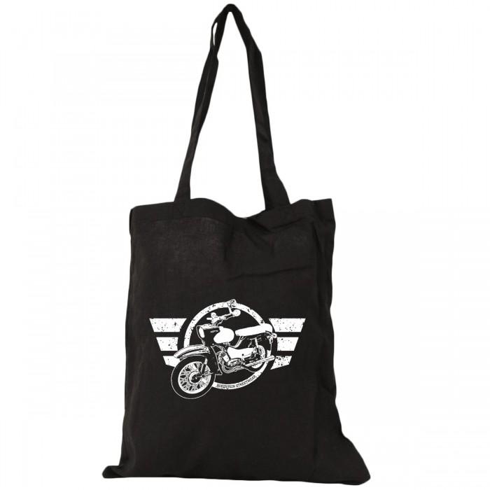 Star Moped Motiv auf schwarzem Beutel