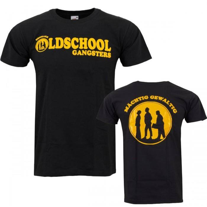 Herren T-Shirt Oldschool Gangster Schwarz