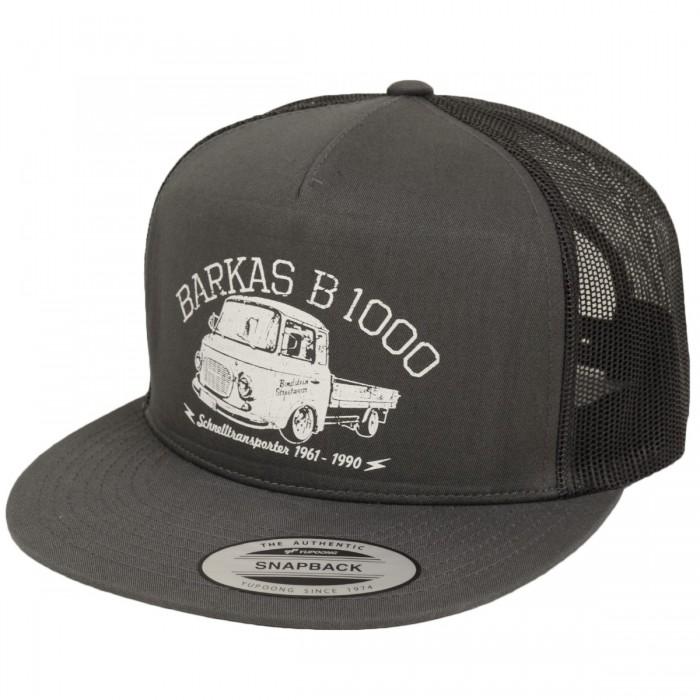 Bordstein Streetwear Trucker Cap Barkas B1000 Pritsche Grau