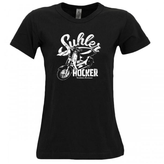 Damen T-Shirt Suhler Hocker SR50 Schwarz