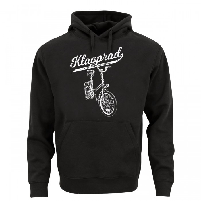 Männer Klapp-Fahrrad Hoody in schwarz