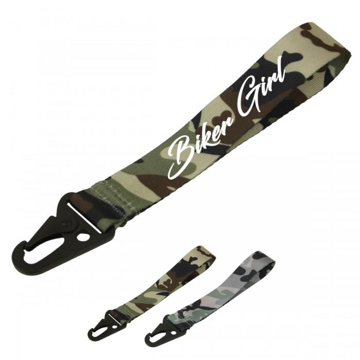Biker Girl Schlüsselband Camouflage Verschiedene Farben