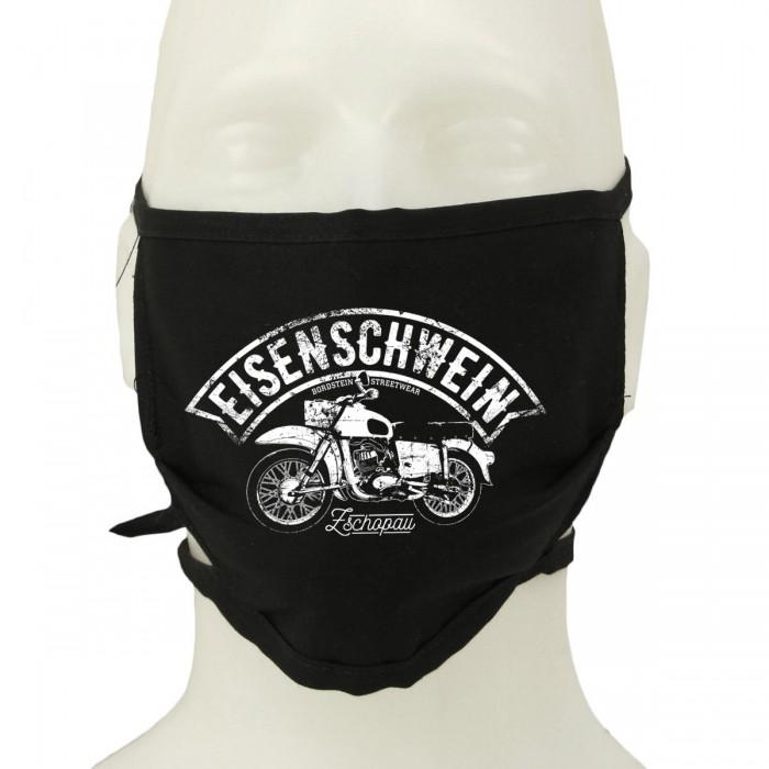 MZ ES Motorrad auf Mund-Nasen-Schutz