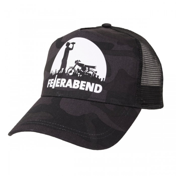 Black Camo Feierabend Snapback Cap