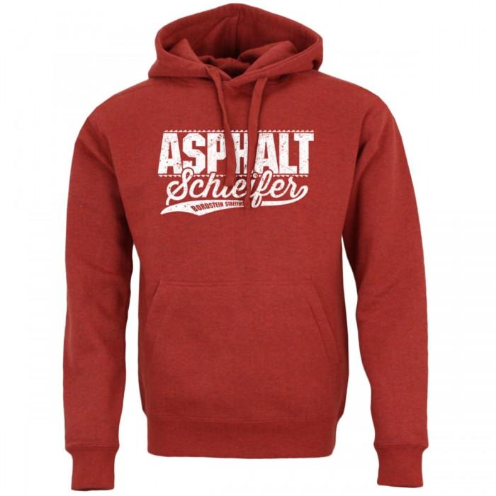 Asphalt Schleifer Hoodie red heather