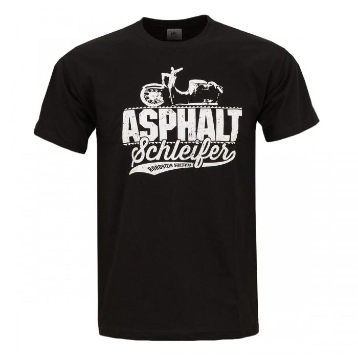 Bordstein Herren T-Shirt Asphaltschleifer Schwarz