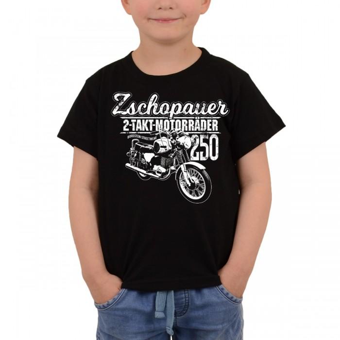Bordstein Kinder T-Shirt Zschopauer TS 250 Schwarz