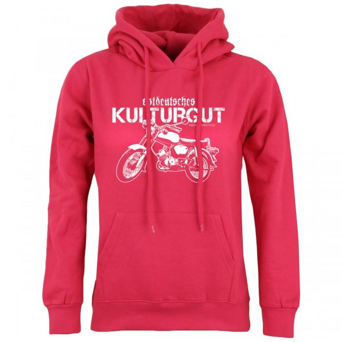 Frauen Kapuzenpullover Kulturgut pink