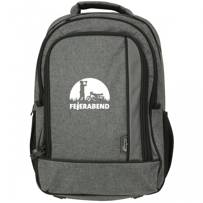Notebook Rucksack mit Feierabend Logo