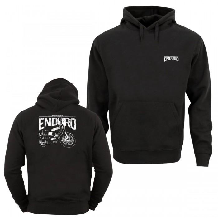 Enduro Kapuzen Sweater mit Front- und Rückendruck