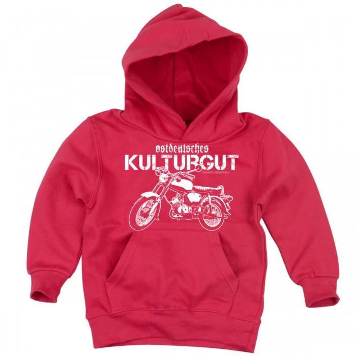 Kids Kapuzen Pullover pink mit Simson Motiv
