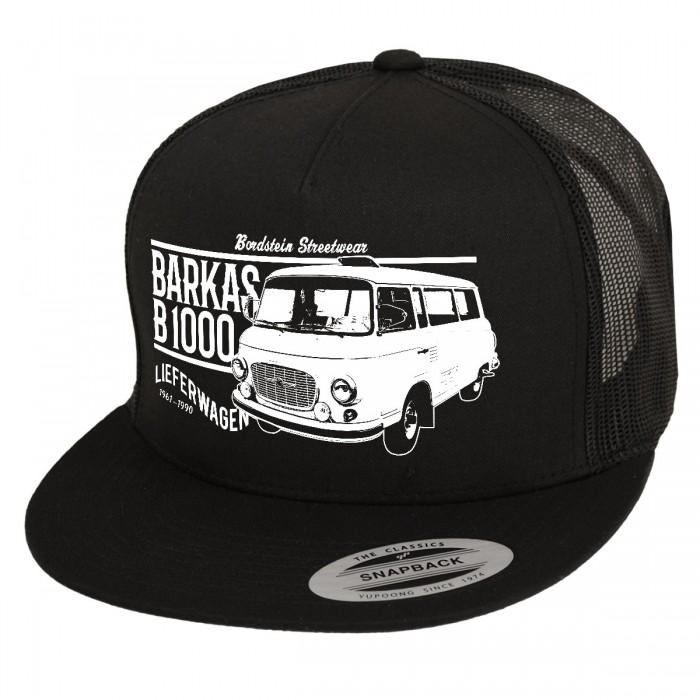 Schwarzes Snapback Cap mit B 1000 Motiv