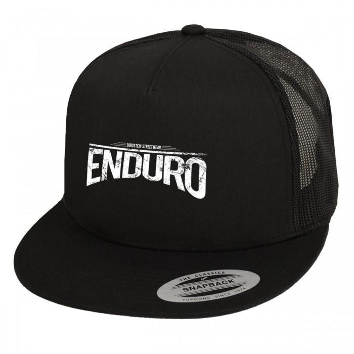 Enduro Snapback Cap in schwarz