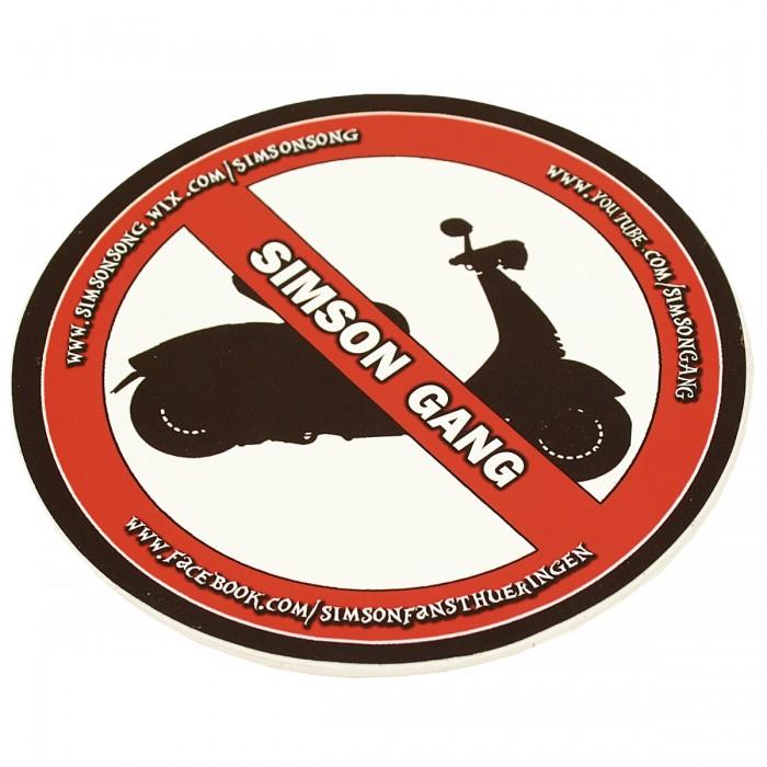 5er Pack Simson Gang Aufkleber No Roller