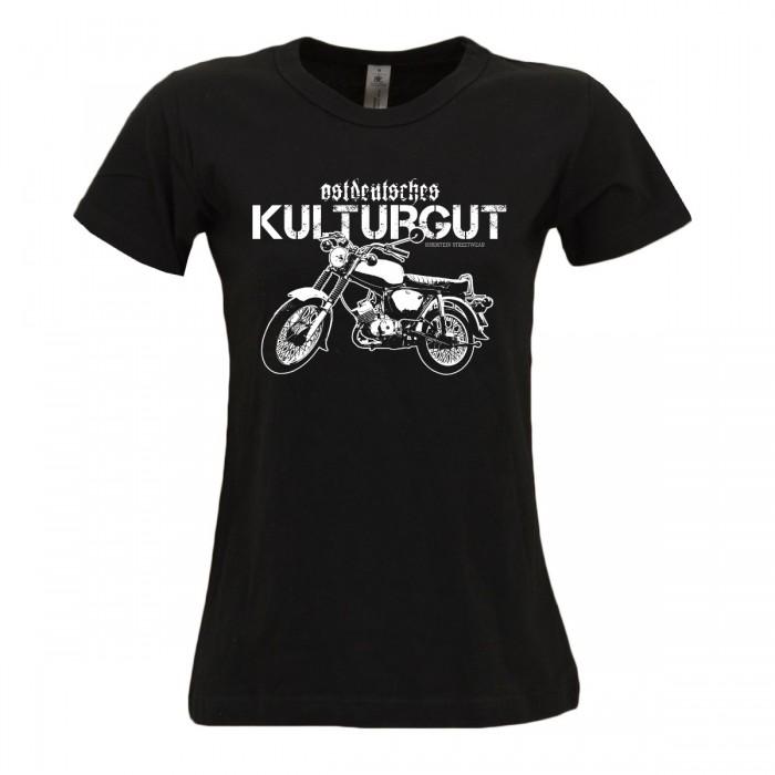 Damen T-Shirt Ostdeutsches Kulturgut Schwarz