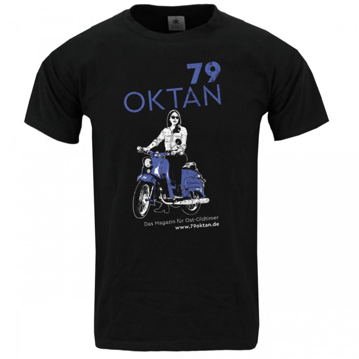 Ostoldtimer Magazin 79 Oktan Simson Schwalbe T-Shirt vom