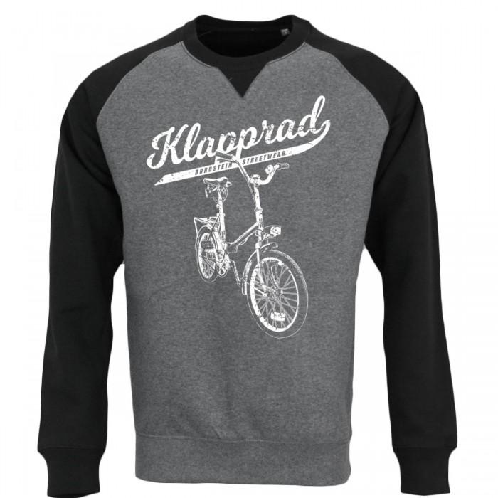 Klapp-Fahrrad Motiv trifft oldschool Baseball Sweater