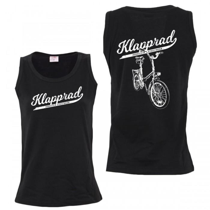 Klapp Fahrrad auf Mädels Top