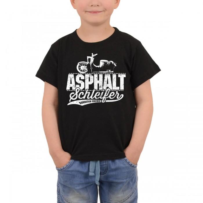 Bordstein Kinder T-Shirt Asphaltschleifer Schwarz