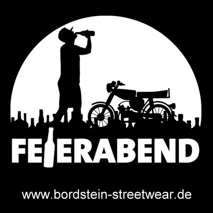 Feierabend Sticker von Bordstein Streetwear