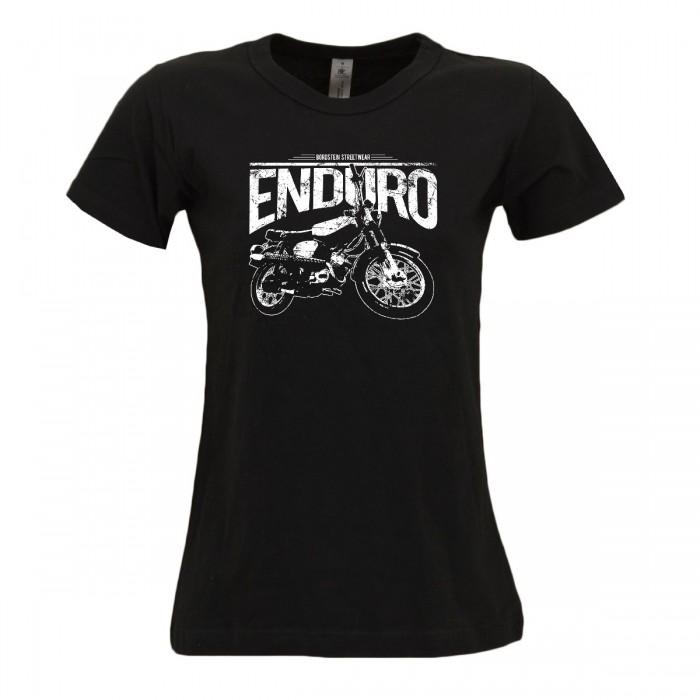 Bordstein Damen T-Shirt Enduro Schwarz