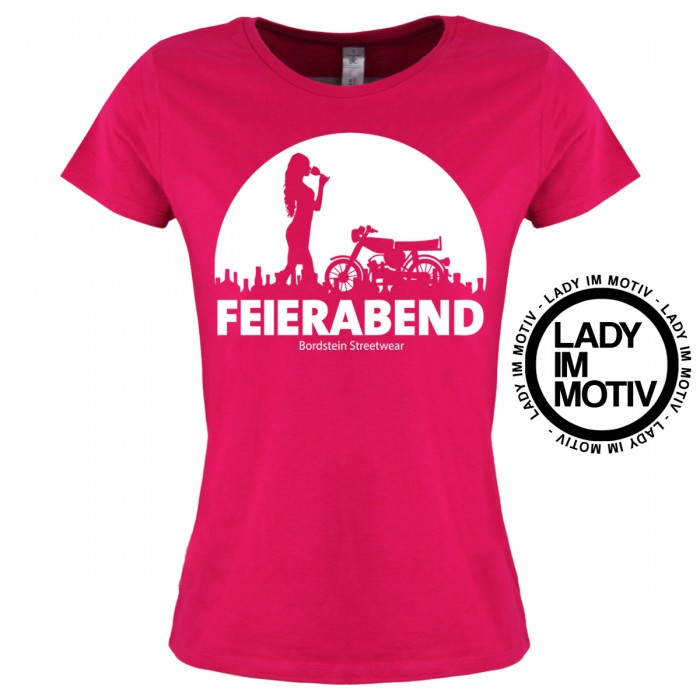 Damen T-Shirt Feierabend Lady Pink