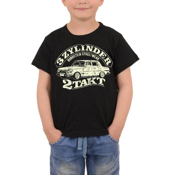 WB353 Kinder T-Shirt 3 Zylinder Zweitakt Schwarz