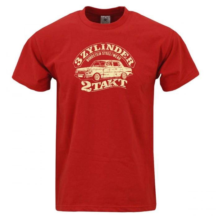 Herren Shirt in rot mit cremefarbenem 353 Motiv