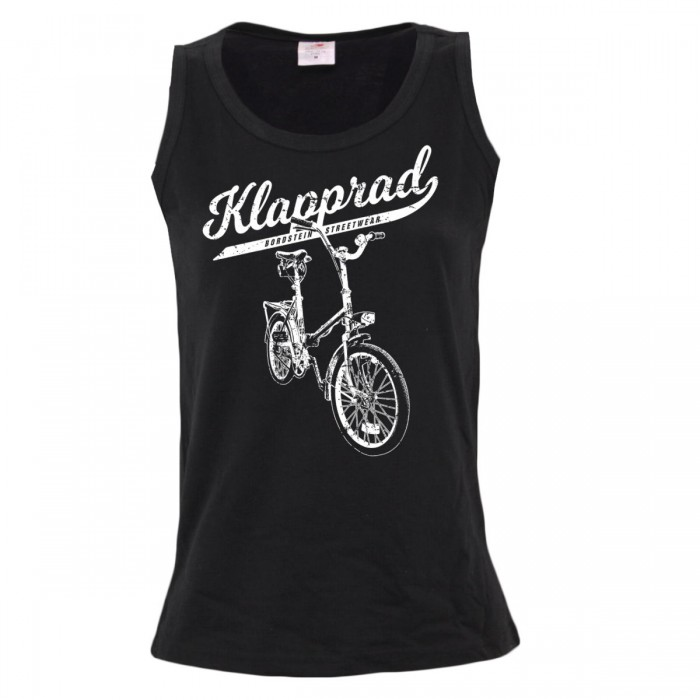 Ärmelloses Damen Shirt mit Fahrrad Motiv
