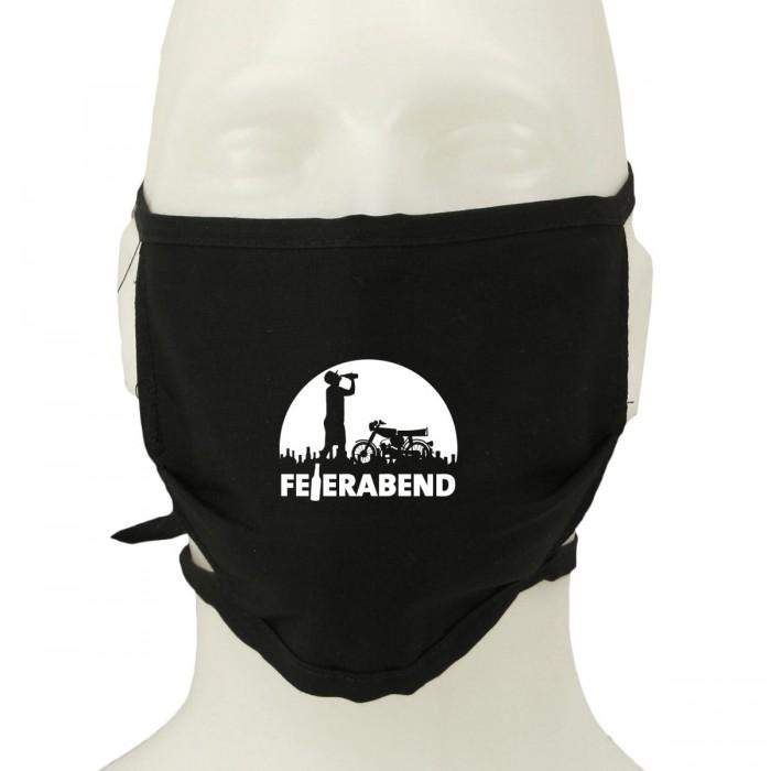Nasen-Mund-Schutz-Maske mit Feierabend Motiv