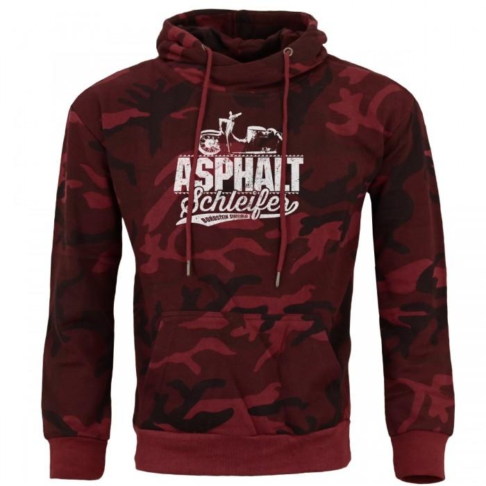 Asphaltschleifer Kapuzensweater Rot Camo