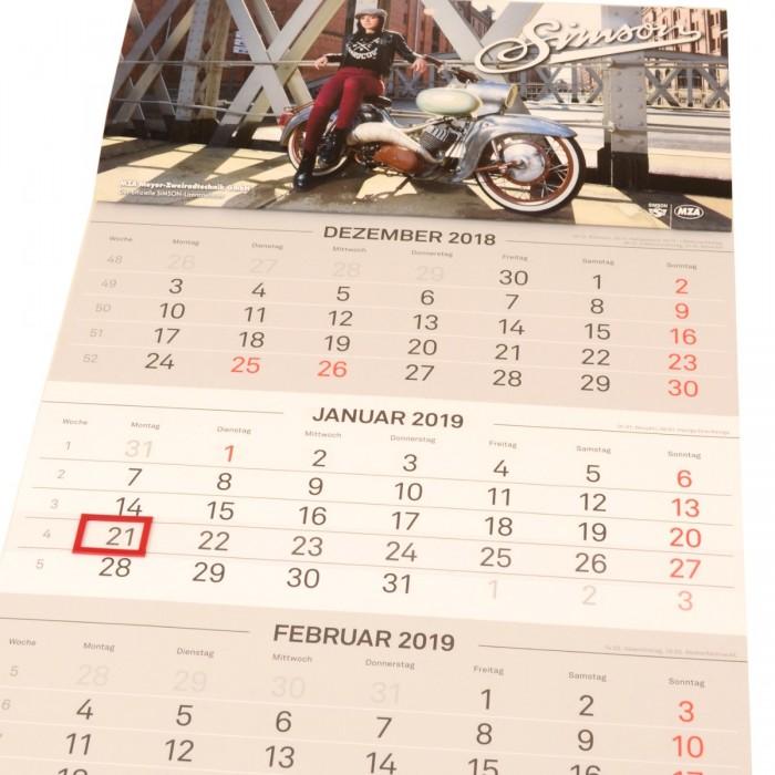 Simson 3 Monatskalender
