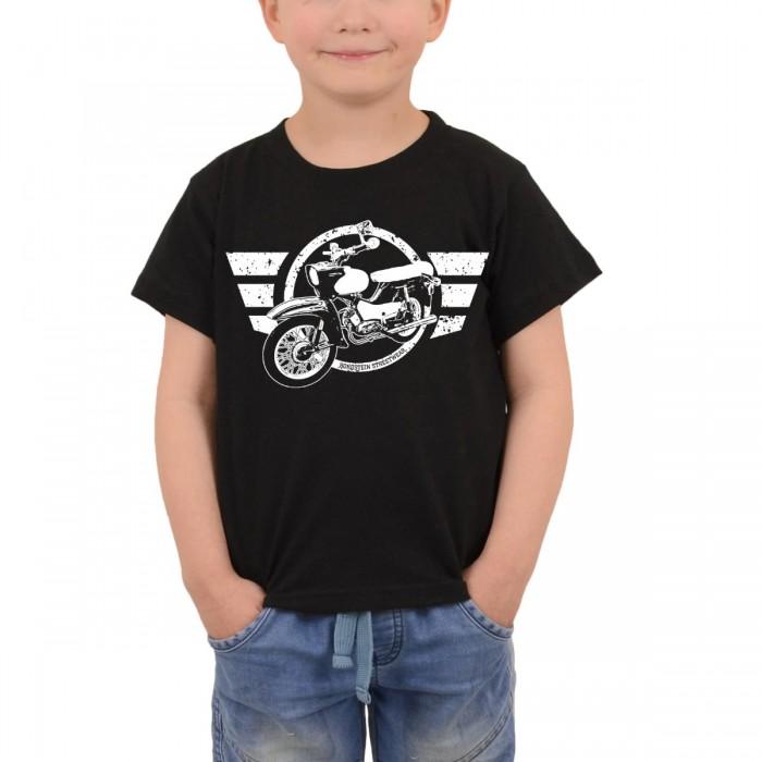 Ostdeutsches Kult-Moped auf kleinem Kinder T-Shirt