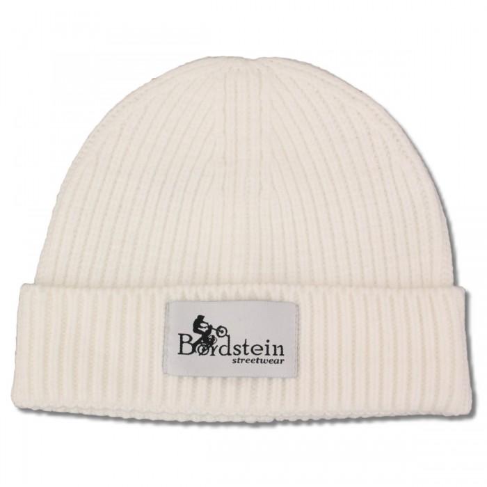 Schnee-weisse Mütze mit Bordstein Label