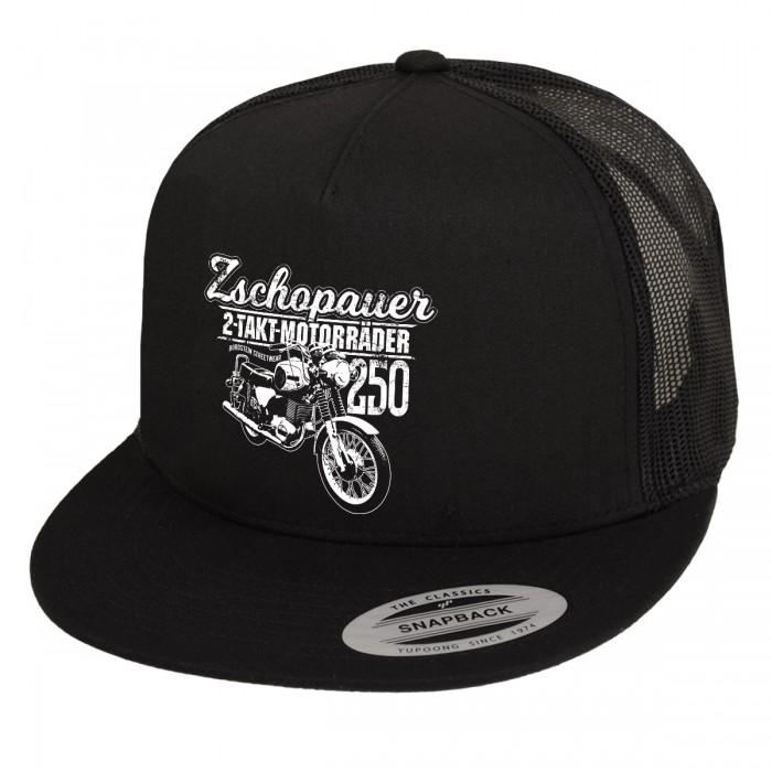 Zschopauer Motorräder Motiv von Bordstein auf Trucker-Kappe