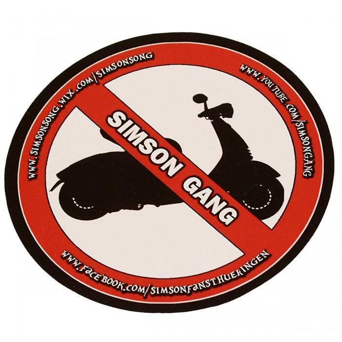 Simson Gang Sticker No Roller