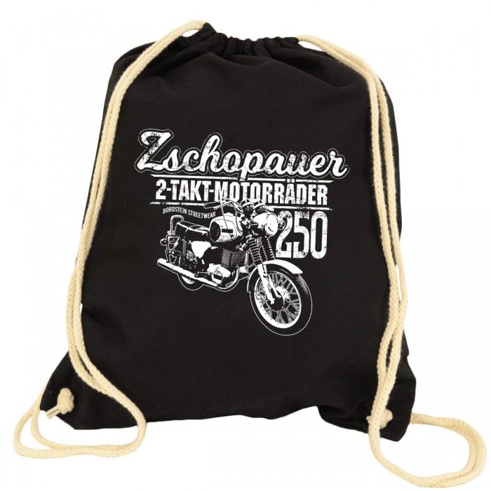 Zschopauer 2 Takt Motorräder TS 250 Turnbeutel Rucksack Schwarz