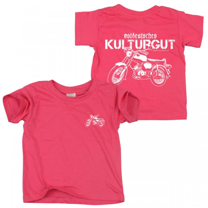 Suhler Kult Moped auf pinkem Kids T-Shirt