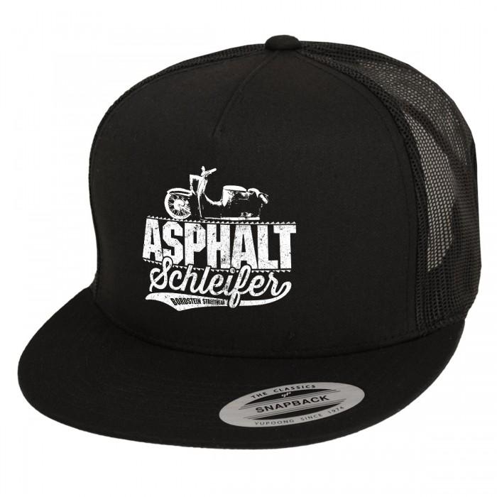 Asphaltschleifer Trucker Mütze in schwarz