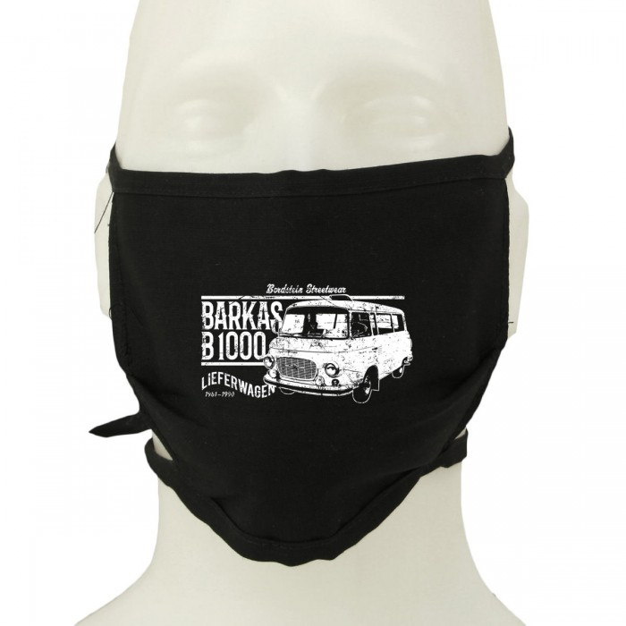 B1000 Bus auf schwarzer Stoff-Maske