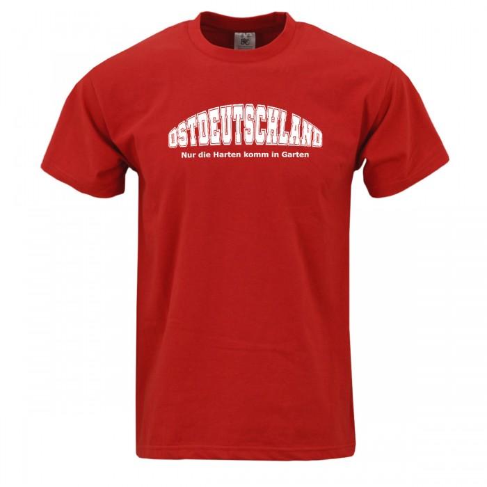 Ostdeutschland T-Shirt in rot mit weissem Druck